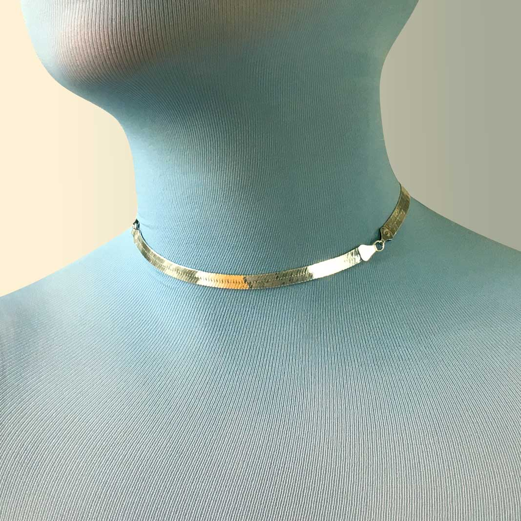Vintage Sterling silver Fitted Choker